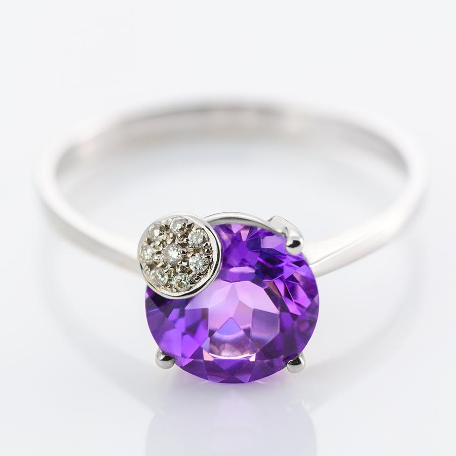 anillo con dos piedras